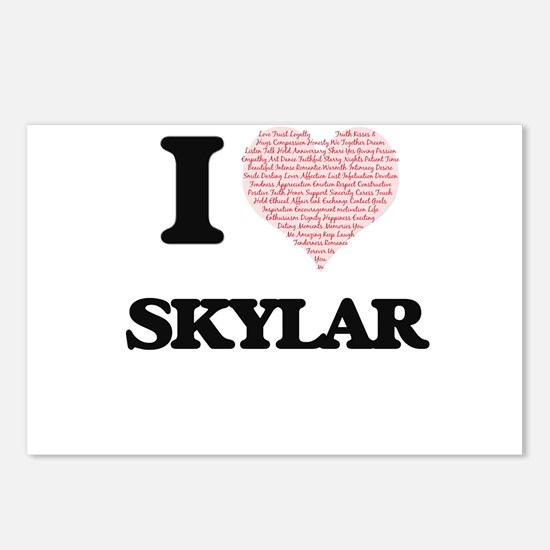 I love Skylar (heart made Postcards (Package of 8)
