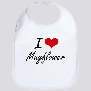 I love Mayflower Massachusetts artistic desig Bib