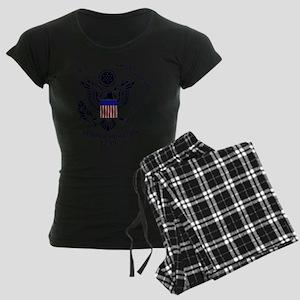 uscg_flg_d1 Women's Dark Pajamas