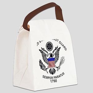 uscg_flg_d1 Canvas Lunch Bag