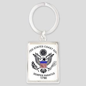uscg_flg_d1 Keychains