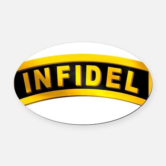 infifel_rtab.png Oval Car Magnet
