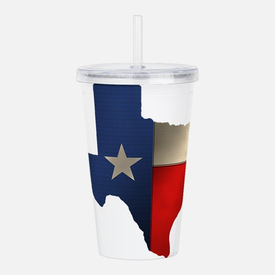 State of Texas1.png Acrylic Double-wall Tumbler