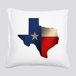 State of Texas1 Square Canvas Pillow