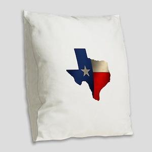 State of Texas1 Burlap Throw Pillow