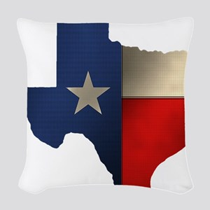 State of Texas1 Woven Throw Pillow