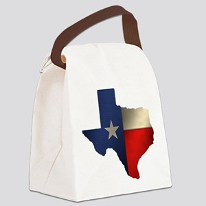 State of Texas1 Canvas Lunch Bag