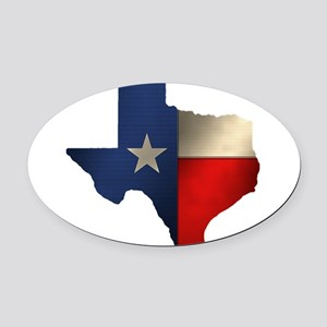 State of Texas1 Oval Car Magnet