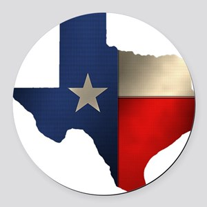 State of Texas1 Round Car Magnet