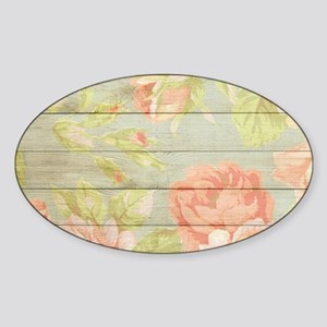 Shabby Chic Country Floral Peony Wood Sticker