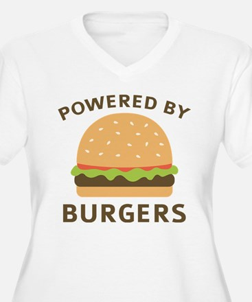 Powered By Burgers Plus Size T-Shirt