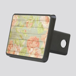 Shabby Chic Country Floral Rectangular Hitch Cover