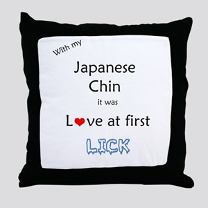 Chin Lick Throw Pillow