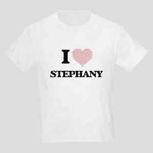 I love Stephany (heart made from words) de T-Shirt