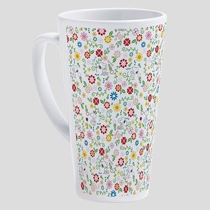 Peanuts Snoopy Spring Pattern 17 oz Latte Mug