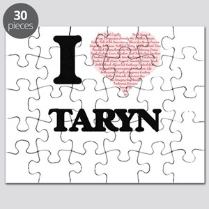 I love Taryn (heart made from words) design Puzzle