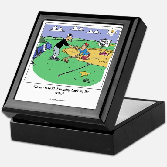 Cute Golf cartoon Keepsake Box