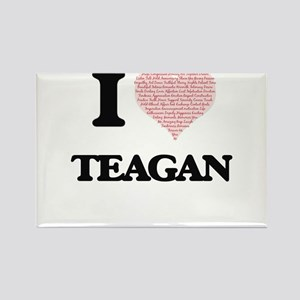 I love Teagan (heart made from words) desi Magnets