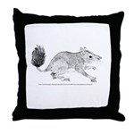 Brush Tailed Phascogale Throw Pillow