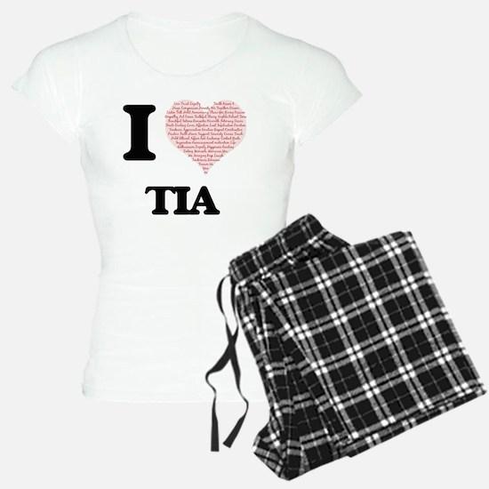 I love Tia (heart made from Pajamas