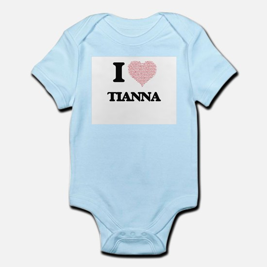 I love Tianna (heart made from words) de Body Suit