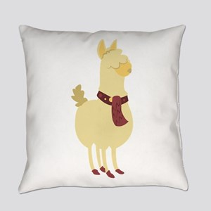 Cute Llama Everyday Pillow