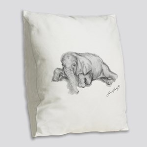 Ellie Burlap Throw Pillow
