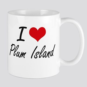 I love Plum Island Massachusetts artistic de Mugs