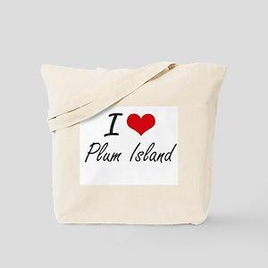 I love Plum Island Massachusetts artisti Tote Bag