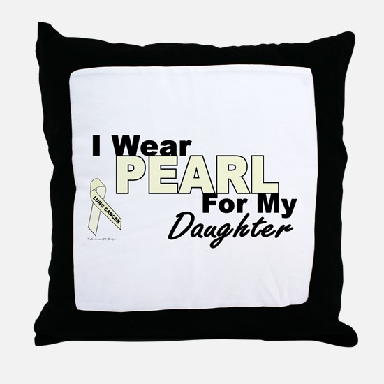 I Wear Pearl 3 (Daughter LC) Throw Pillow