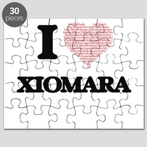 I love Xiomara (heart made from words) desi Puzzle