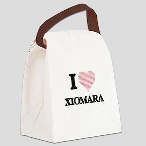 I love Xiomara (heart made from w Canvas Lunch Bag