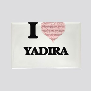 I love Yadira (heart made from words) desi Magnets