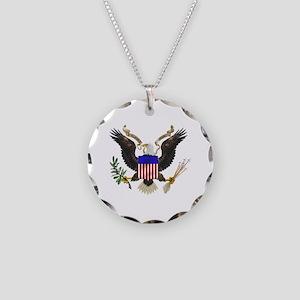 eag;e_seal_pln8 Necklace Circle Charm