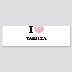 I love Yaritza (heart made from wor Bumper Sticker