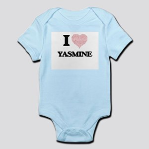 I love Yasmine (heart made from words) d Body Suit