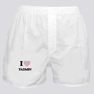 I love Yazmin (heart made from words) Boxer Shorts