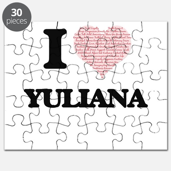 I love Yuliana (heart made from words) desi Puzzle