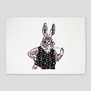Spotted Bunny 5'x7'Area Rug