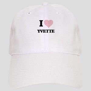 I love Yvette (heart made from words) design Cap