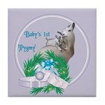 Pygmy Goat Baby's First Tile Coaster