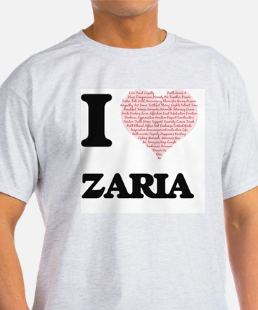 I love Zaria (heart made from words) desig T-Shirt