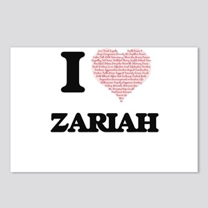 I love Zariah (heart made Postcards (Package of 8)