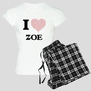I love Zoe (heart made from Women's Light Pajamas