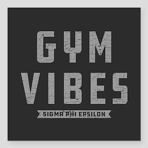 """Sigma Phi Epsilon Gym Square Car Magnet 3"""" x 3"""""""