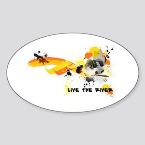 Kayak Capers Oval Sticker