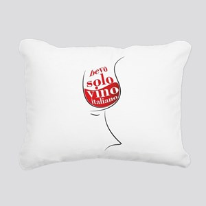 Bevo solo vino italiano Rectangular Canvas Pillow
