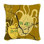 Fractonia Memory Beast Woven Throw Pillow