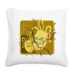 Fractonia Memory Beast Square Canvas Pillow