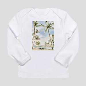 Vintage Hawaiian Beach Long Sleeve T-Shirt